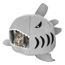 Shark Shaped Soft Cat Bed And House
