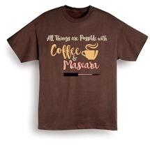 Coffee And Mascara Shirts