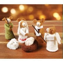 Mice Nativity Set