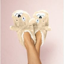 Animal Footsie Slippers - Dog Tired