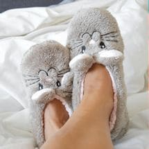 Animal Footsie Slippers - Snuggle Bunny