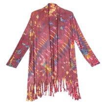 Tie Dyed Fringed Cardigan