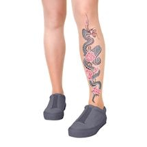 Handprinted Tattoo Pantyhose - Serpent