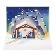 Pop-Up Christmas Nativity Greeting Card