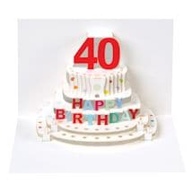 Pop-Up Milestone Birthday Cards - Forty