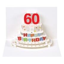 Pop-Up Milestone Birthday Cards - Sixty