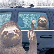 Ride With A Sloth Car Decal