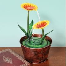 Small Flower Pot Water Fountain for Tabletop or Desk