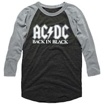 Back In Black Baseball Tee