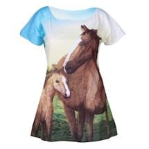 Horses All-Over Print T-Shirt
