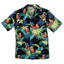 Neon Parrots Short Sleeve Camp Shirt