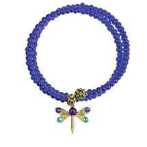 Beaded Dragonfly Bangle Bracelets