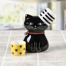 Cat-Shaped Sake Set