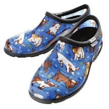 Farm Animal Print Waterproof Clogs - Blue Goats