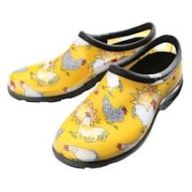 Farm Animal Print Waterproof Clogs - Yellow Chickens