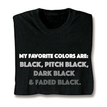 My Favorite Colors Shirts