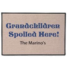 Grandchildren Spoiled Here! Personalized Doormat