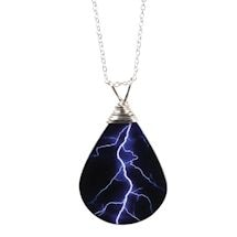 Blue Lighting Necklace