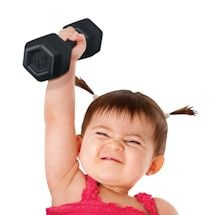 Buff Dumbbell Baby Rattles