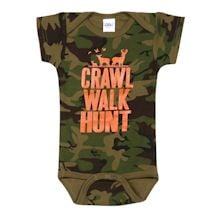 Crawl Walk Hunt Camo Snapsuit