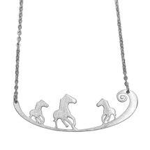 Horses Engraved Pendant