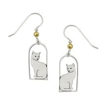 Feline Cat Silhouette Earrings