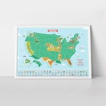 USA Landmarks Scratch Map