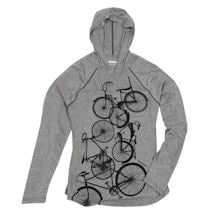 Biking Hooded Long-Sleeve Top