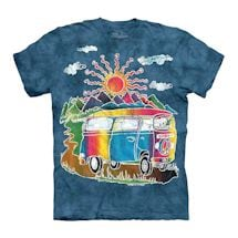 Hippie Retro Peace Sign Bus Tee