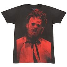 Texas Chainsaw/Leather face Big Face T-Shirt