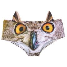 Women's 3D Animal Face Undies: Underwear with Ears