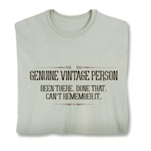 Genuine Vintage Person T-Shirt