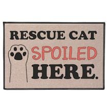 Rescued Cat Spoiled Here Doormat