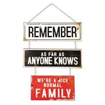 Normal Family Metal Sign