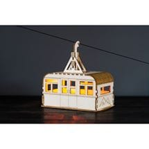 Solar-Lit Cable Car Nightlight