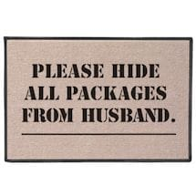 Please Hide all Packages from Husband Doormat