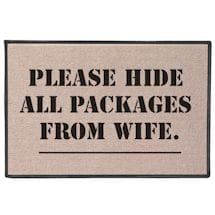 Please Hide all Packages from Wife. Doormat