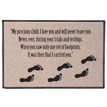 Footprints Poem Doormat