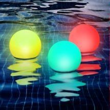 Color-Changing Floating Globe Set