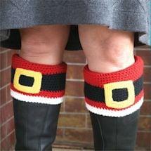Santa Belt Boot Cuffs