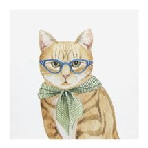 Spectacled Cats Canvas Print Set