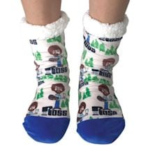 Bob Ross Slipper Socks