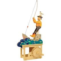 Wood Mechanical Good Fishing Construction Kit