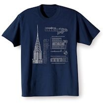 Landmark Building Blueprint Tees