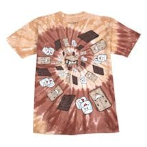 S'mores Spiral Tie-Dye T-Shirt