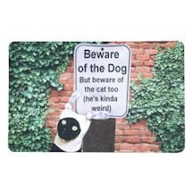 Beware Of The Dog/Cat Too Doormat