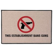 This Establishment Bans Guns Doormat