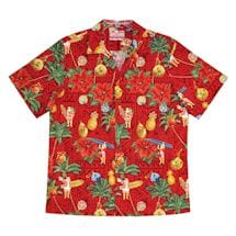 Santa Hawaiian Aloha Camp Shirt