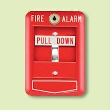 Fire Alarm Light Switch Plate