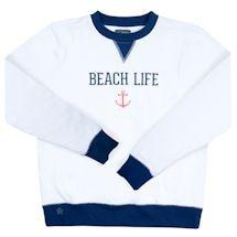 Beach, Camp And Lake Life Pullover Sweatshirt Crewnecks